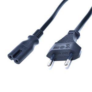 1.5 metro europeu plugue da ue dois pinos plug para iec 320 c7 ac cabo de alimentação plugue do cabo para notebook portátil