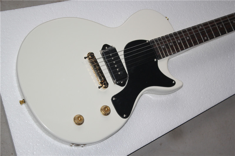 free shipping China Custom Guitar High Quality Musical Instrument electric guitar Junior Reissue white color 1117 china s es p guita wholesale newest explorer electric guitar high quality ems free shipping free shipping