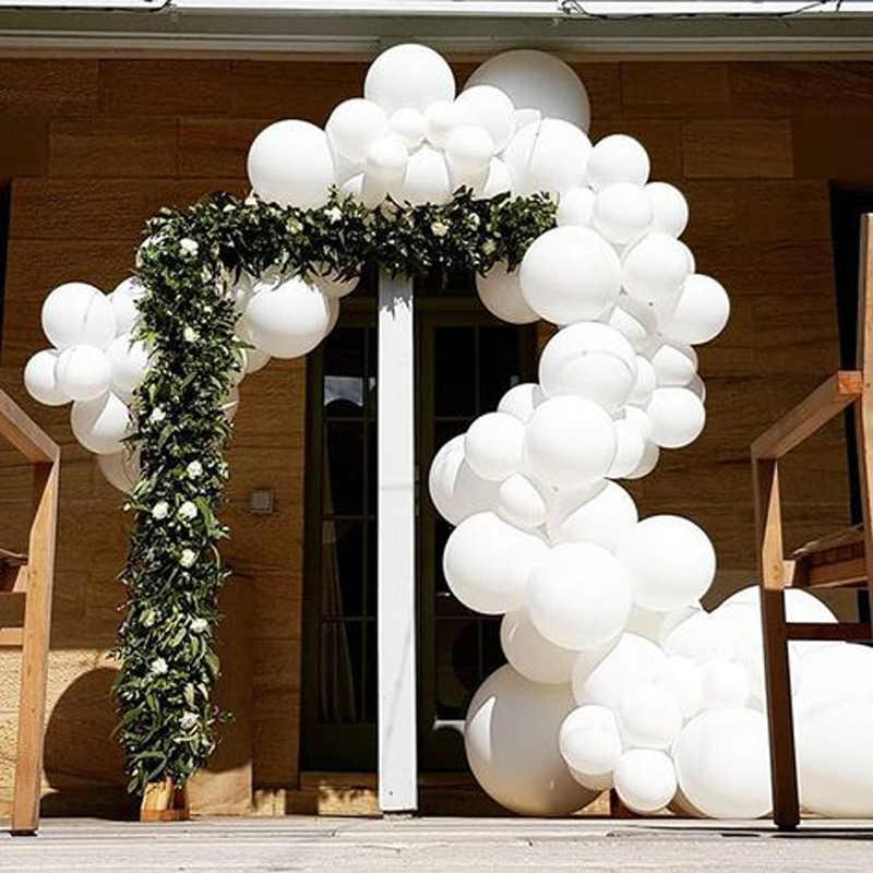 5/12/18/36 Gigante Branco Balões Redondos 18/36 Polegada Polegada Macaron Arco de Balões Casamento Backdrop Fotografia Festa de Aniversário decoração