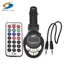 Дешевый Автомобильный MP3-плеер, беспроводной fm-передатчик, автомобильный модулятор, USB зарядное устройство, SD пульт, 206 FM каналов