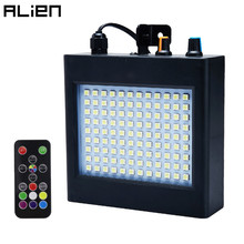 ALIEN Remote 108 LED RGB Strobe Stage Lighting Effect Sound Activated Club Disco Party DJ Holiday With Variable Speed Control