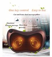 Home & Car Dual use Multifunction Massager Neck Shoulder Back Body Spa Massage Pillow Infrared Heating Shiatsu Massager