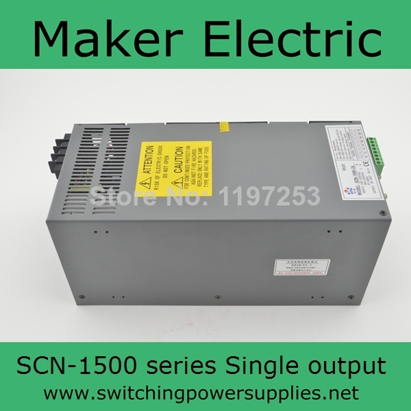 1500W 15V 100A   High Power Switching Power Supply SCN-1500-15 with Parallel Function 15 15 1500