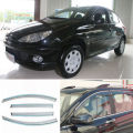 4pcs New Smoked Clear Window Vent Shade Visor Wind Deflectors For Peugeot 206