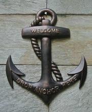 Cast Aluminum Alloy Ship s Anchor Hanging Wall Mounted Boat Nautical Seashore Marine Beach Sea Metal
