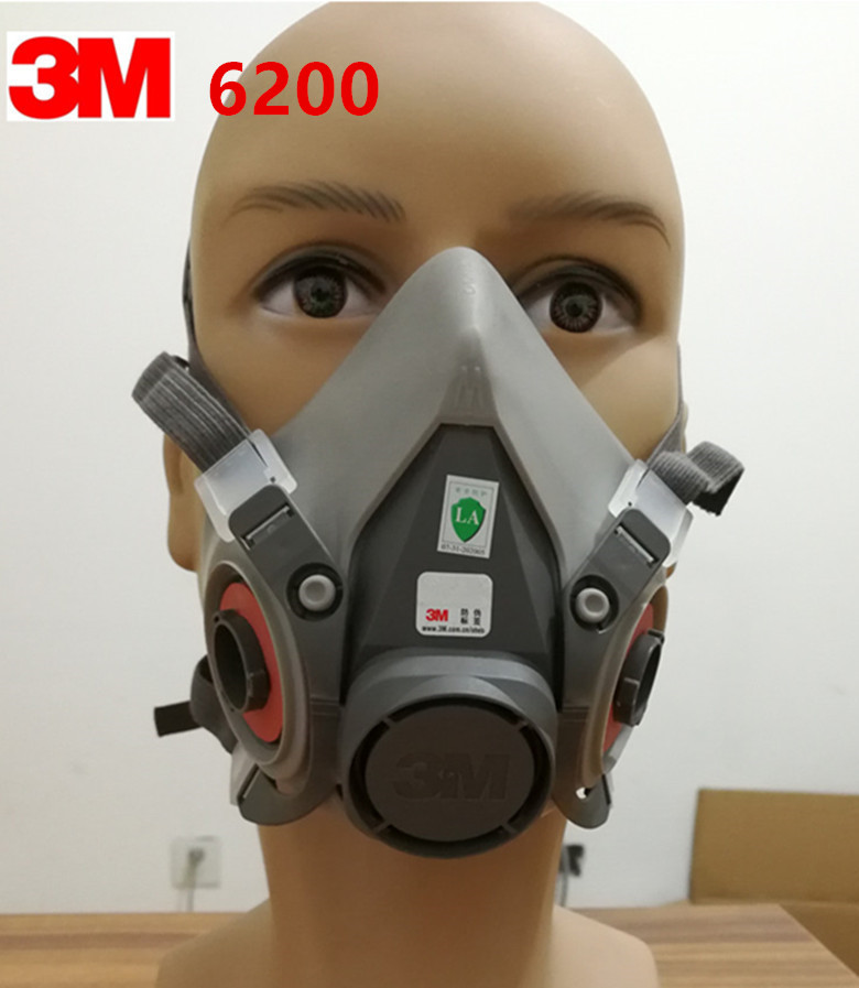 Fire Protection 3m 6200 Half Facepiece Respirator Medium Size Painting Spraying Face Gas Mask Fire Respirators
