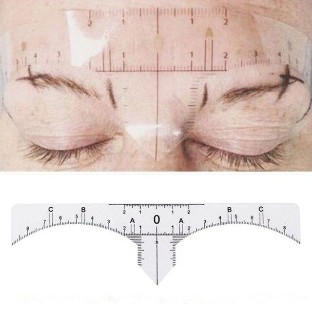 18cmx2.7cm Disposable Adhesive Eyebrow Ruler Guide Sticker Tape Semi-permanent Tattoo Template Measure Beauty Tool 1