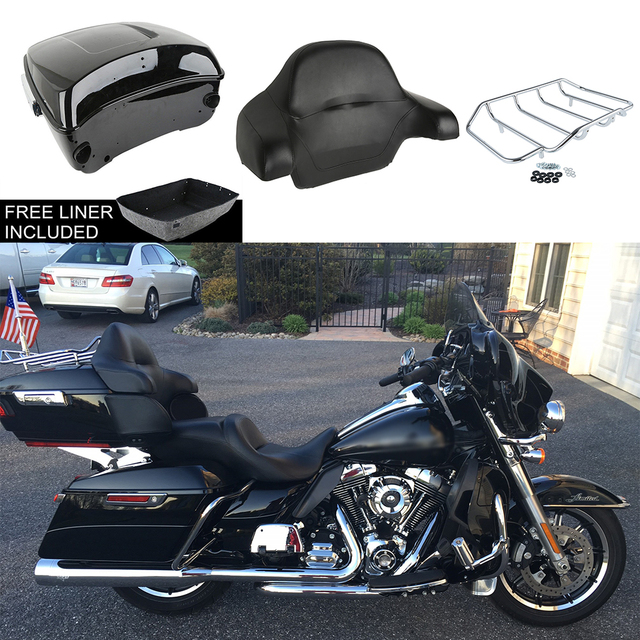 Motorcycle Luggage Rack Bag Magnificent Motorcycle Bag Trunk Top Case For Harley Touring Road King Street