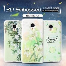 QBQB For Meizu M3 Cellphone Bag Case 3D Stereo Aid Portray meilan three Smooth Silicon Again Cowl Colourful Case New anti-knock