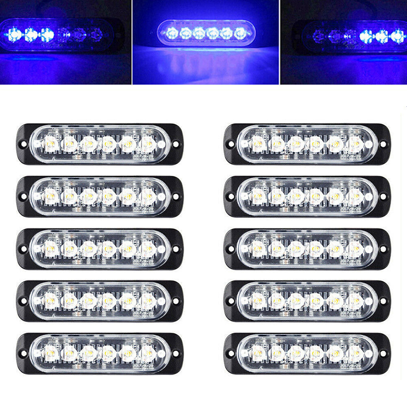 10X Car Truck 6LED Strobe Light Flash Hazard Beacon Safety Warning Blue Lamp 18W-in Truck Light System from Automobiles & Motorcycles