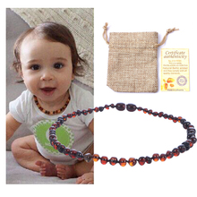 EAST WORLD Natural Amber Necklace Supply Certificate Authenticity Genuine Baltic Stone Baby Gift-10 Color 14-33cm