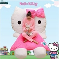 Dorimytrader 200cm X 150cm Hello Kitty Beanbag Giant Stuffed Soft Double Bed Carpet Sofa Tatami Mattress Free Shipping DY60316