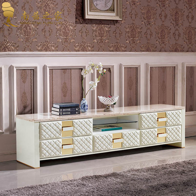 Italian Design Home Furniture High Quality Marble Tv Stand Living Room  Cabinet