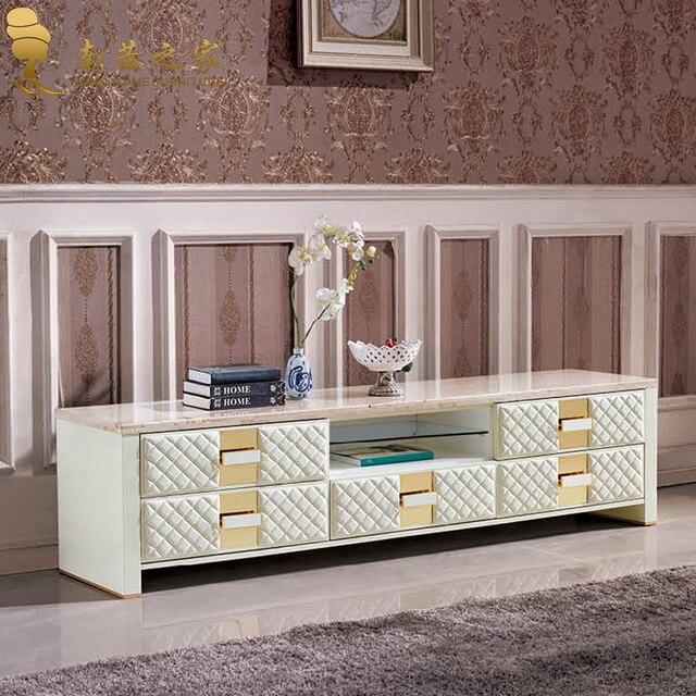 Muebles de diseño italiano en casa de alta calidad soporte mármol Tv ...