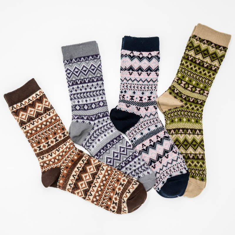 PEONFLY happy funny novelty socks colorful men 4PIARS/LOT Product Full Cotton Man Heap Double Needle Restore Wind Line Japan
