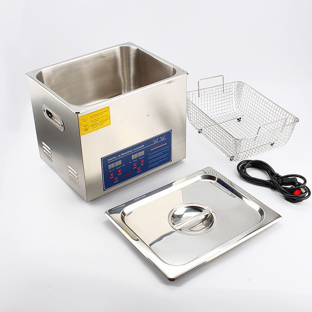 DIGITAL STAINLESS ULTRASONIC CLEANER ULTRA SONIC BATH CLEANING TANK TIMER HEATE 10L