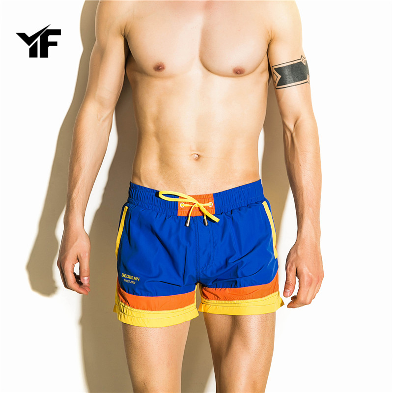 YF Brand Summer New Casual Shorts Men Available Shorts Loose Elastic Waist Breathable Beach Shorts
