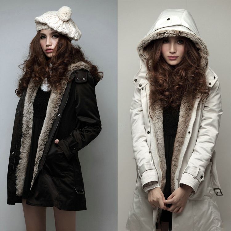 Womens Faux Fur Winter Lined Hooded Long Jacket Coat - Best Jacket ...