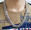 18''-36'' Choose 13mm wide  316L Stainless Steel Fashion Curb Chain Link Necklaces For Boys Men's XMAS Gifts  Jewelry