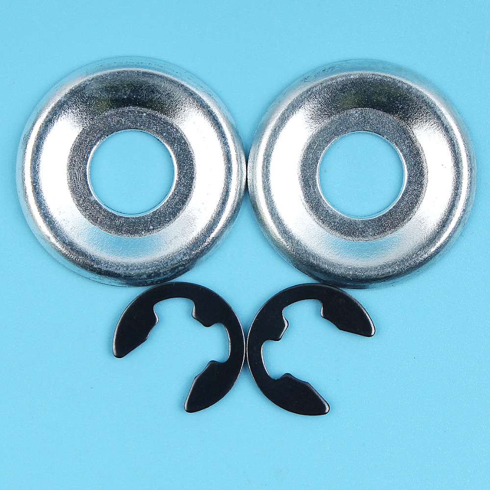 2 X Clutch Washer & E-Clips Kit For STIHL 017 018 021 023 025 MS170 MS180 MS210 MS230 MS250 Chainsaw Sprocket Plate