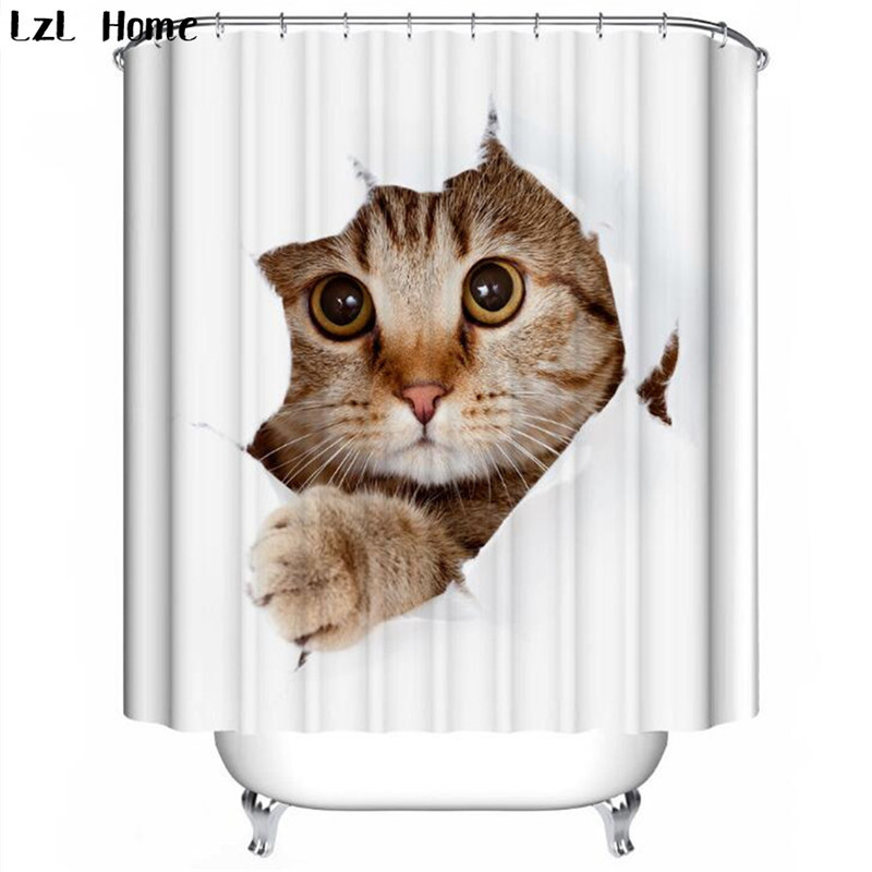 Aliexpress.com : Buy LzL Home lovely cat shower curtains for kids ...