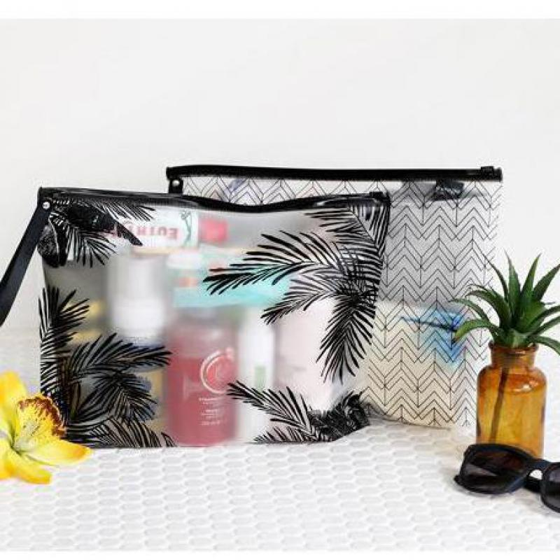 A4/A5 Simple Leaves Transparent PVC File Folder Document Filing Bag Cosmetic Stationery Bag Promotional Gift Stationery