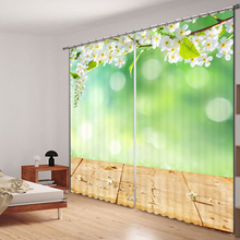 New Dandelion Printing Luxury 3D Blackout Curtains For Living room Bedding room Drapes Cotinas para sala Home Decorative