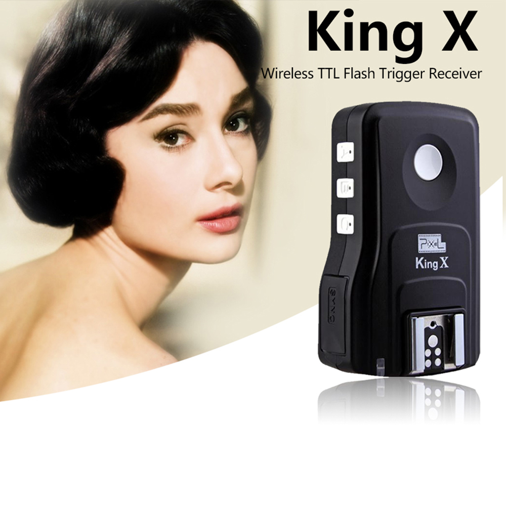 Pour Canon 1100D 1000D 650D 600D 450D 500D DSLR Pixel Roi X Recevoir E-TTL Sans Fil Déclencheur Flash Synchronisation Haute Vitesse 1/8000 Roi Pro