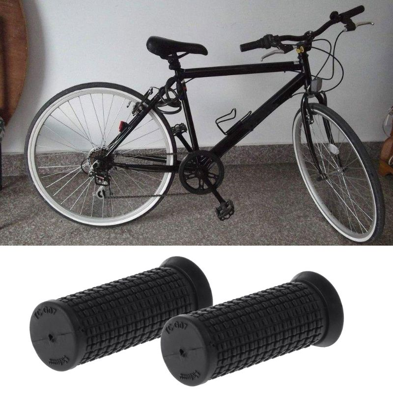 2pcs/ Pair Bicycle Grips Short Handle Rubber Non Slip For  Cycling Scooter MTB Bike Parts