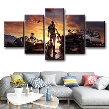 5 Piece PUBG Game Art Landscape Poster Canvas And Prints Modern Decorative Pictures Decoration Paintings For Living Room Decor