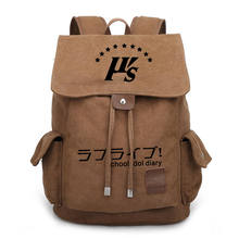 f0de63a8c38 Anime Love Live Canvas Backpack Women Men Vintage School Bags for Teens  Students Drawstring Travel Bag Daily Backpack