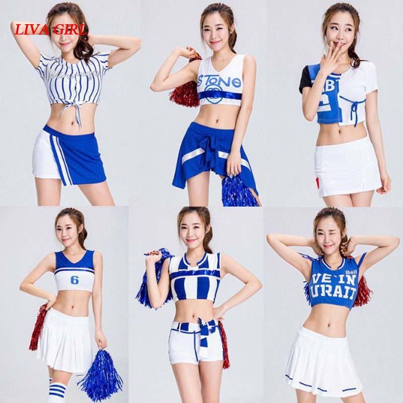 Djgrster Sexy High School Cheerleader Costume Girl Aerobics Dance Cheer Girls Race Car Driver Uniform Party Tops And Shorts Cool In Summer And Warm In Winter Women's Costumes