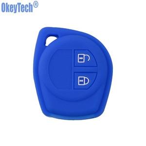 Image 4 - OkeyTech Silicone Rubber 2 Button Car Remote Key Fob Case Protect Cover For Suzuki SX4 Swift Vitara Key Shell Holder Accessories
