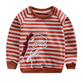 LM Christmas New Arrival Quality Boys Girls Shirt for Kids Long Sleeve T-shirt Cotton Striped Top Tee Suit for 2-6T Children 20