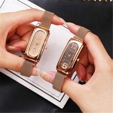 купить Reloj Mujer Montre Femme 2019 Women Bracelet Watch Luxury Brand Steel Ladies Quartz Wristwatches Fashion Crystal Female Clock по цене 260.16 рублей