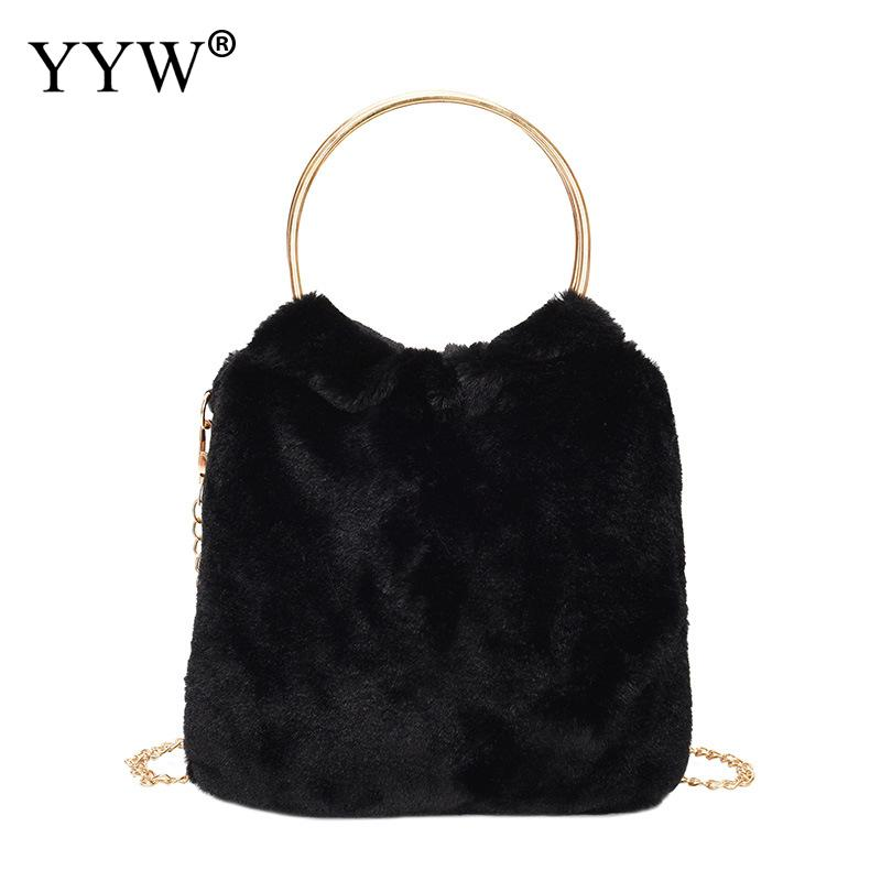 26e82604887f 2018 Winter Soft Plush Faux Fur Bag Fashion Women Hairy Tote Bag Warm Plush  Handbag Ladies Crossbody Shoulder Bag Messenger -in Top-Handle Bags from  Luggage ...