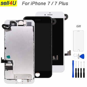 Full parts For iPhone 7 7G 7 plus LCD screen,with front camera earpiece speaker back plate Display Touch Screen Replacement - DISCOUNT ITEM  15 OFF Cellphones & Telecommunications