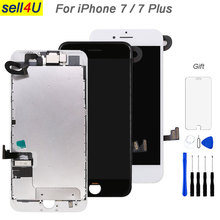 Pièces complètes pour iPhone 7 7G 7 plus écran LCD, avec remplacement de lécran tactile daffichage de plaque arrière de haut parleur découteur de caméra avant