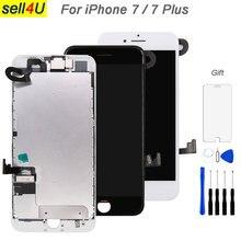 Piezas completas para iPhone 7 7G 7 plus pantalla LCD, con cámara frontal auricular altavoz placa trasera pantalla táctil reemplazo