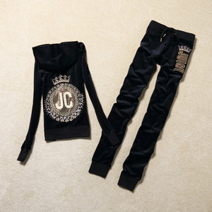 Image 5 - Moda rahat kadife kumaş kadın eşofman kadife takım elbise Hoodies Tops ve ter pantolon seti S XL
