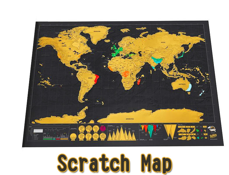 42x30CM Scratch Map Stationery Store Maps Of The World Deluxe Black Scratch Off Wall Sticker Office Decor Without Packing