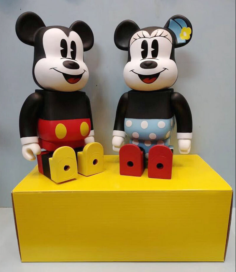 New Style Mouse 28CM Bearbrick 400% Be@rbrick Cos Mouse Doll PVC ACGN figure Toy Brinquedos Anime Fashion Gifts цена