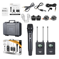 Comica CVM WM200(B) 96 Channel Full Metal UHF Professional Wireless Handheld Microphone System for Canon Nikon Sony Camera