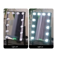 Tabletops Lighted Makeup Mirror with LED Bulb & Dimmer USB Powered Valentine's Day Gift