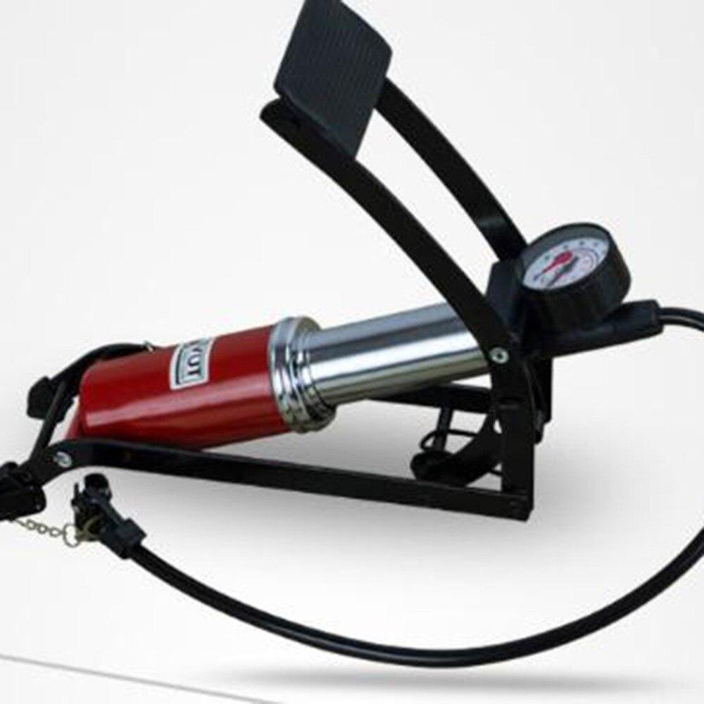 Bicycle Inflation Pump Foot Pedal Type High Pressure Air Pump Mini Portable Inflator Machine For Bicycle Motorcycle Bike Tool