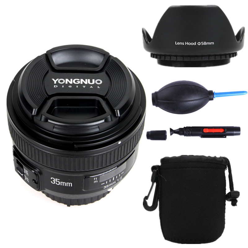 YONGNUO YN35mm F2 0 Wide angle AF MF Fixed Focus Lens for Nikon F Mount D7100
