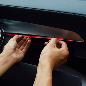 Car Center Console Copilot Glove Box Trim Strip For Mercedes Benz C Class W205 GLC X253 2015-17 Interior Modified Sticker