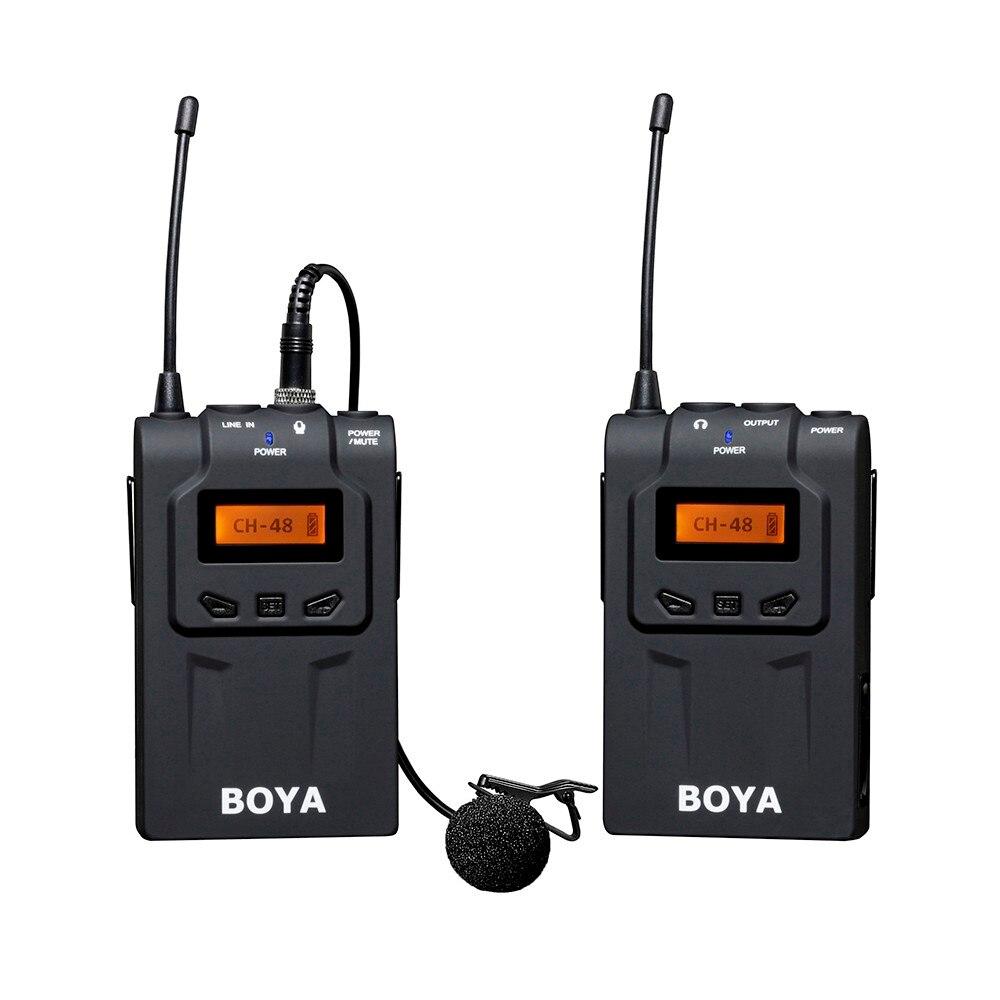 Боя по-WM6 УВЧ беспроводной микрофон система Всенаправленный Петличный микрофон микрофон для ENG ТЖК камеры DSLR