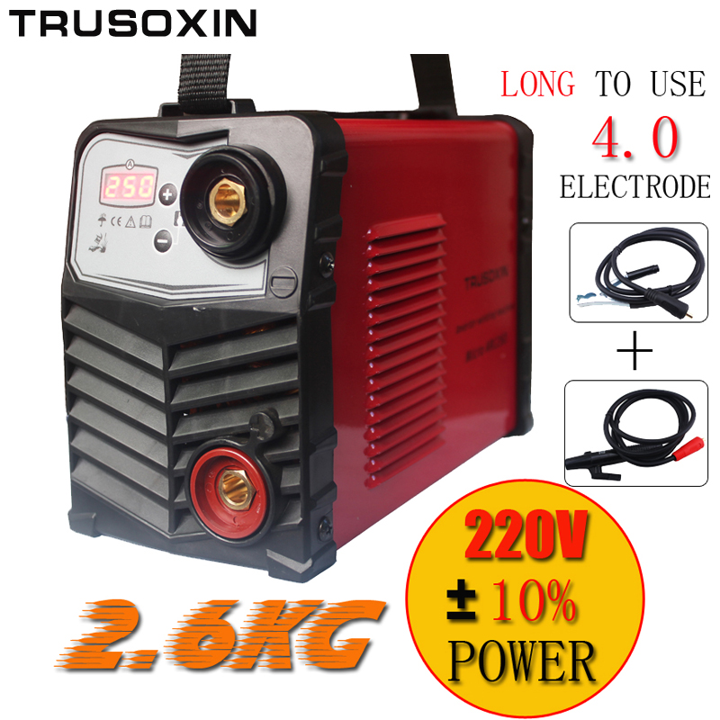 Micro ARC250 stick welder Protable IGBT inverter DC MMA welding machine equipment tools with earth clamp