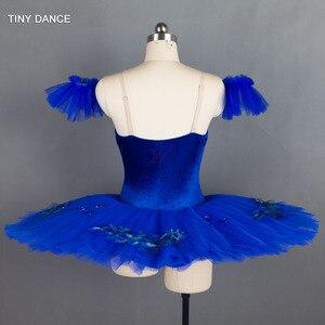 Image 2 - Tulle rigide bleu Royal, 7 couches de Costumes de danse classique, robe Tutu en crêpe, pour le Ballet professionnel BLL027